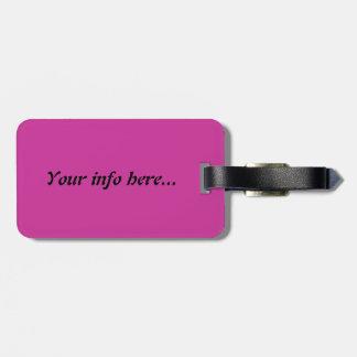 Den rosa polkaen pricker bagagemärkren bagagebricka