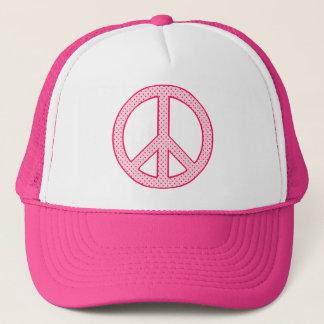 Den rosa polkaen pricker fred truckerkeps