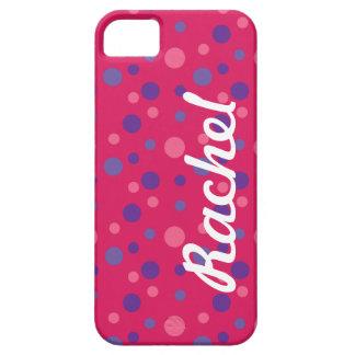 Den rosa polkaen pricker iphone case iPhone 5 skydd