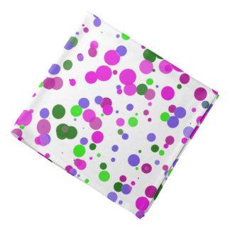 Den rosa polkaen pricker konfettiar bandana