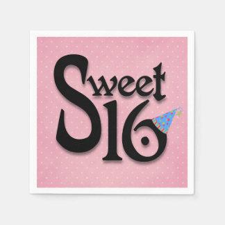 Den rosa polkaen pricker partyservetter för sötsak servetter