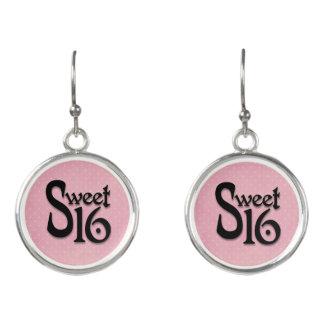 Den rosa polkaen pricker sötsaken 16 örhängen
