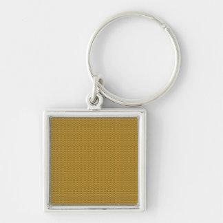 Den rosa purpurfärgade guld- mallen DIY tillfogar Fyrkantig Silverfärgad Nyckelring