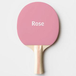 Den rosa rosa personligpolkaen pricker pingen Pong Pingisracket