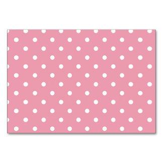 Den rosa rosa polkaen pricker bordkortet bordsnummer