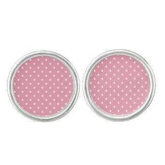 Den rosa rosa polkaen pricker manschettknappar
