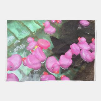 Den rosa Rubber ankan Dishtowel - gör dig att le Kökshandduk