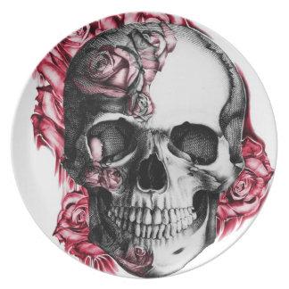 Den rosa skallen pläterar tallrik