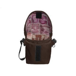 Den rosa skymningen små Ombre reser hänger lös, Messenger Bag