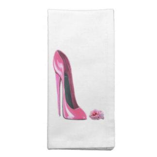 Den rosa stiletten skor och den rosa amerikanMoJo Tygservett