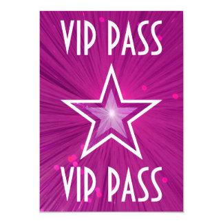 """Den rosa stjärnan """"VIP PASSERAR"""" inbjudanvit 12,7 X 17,8 Cm Inbjudningskort"""