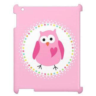Den rosa ugglan med hjärta och den färgglada iPad skal