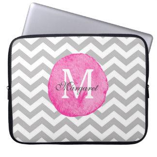 Den rosa vattenfärgsparren personifierar bärbar laptop sleeve