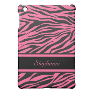 Den rosa zebra tryckiPadkortkortet täcker iPad Mini Mobil Skal