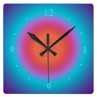 Den rosadesignen > väggen för Aqua tar tid på den Fyrkantig Klocka