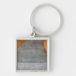 Den Rosetta stenen, från fortSt. Julien, Fyrkantig Silverfärgad Nyckelring