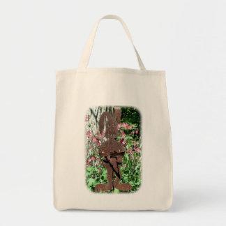 Den rostiga blom- naturtotot för kanin och tygkasse