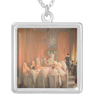 Den Rothschild familjen på bönen Silverpläterat Halsband