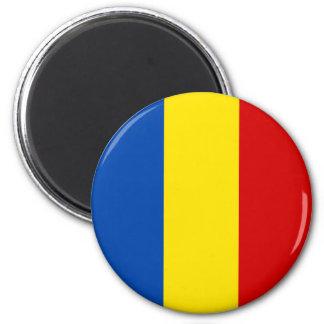 Den rumänska flagga magnet för kylskåp