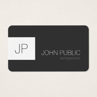 Den rundade moderna eleganta minimalisten tränga visitkort