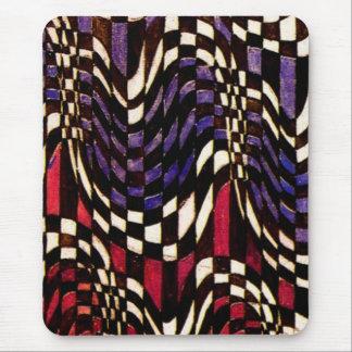 Den rutiga art nouveau vinkar mönster - Mousepad