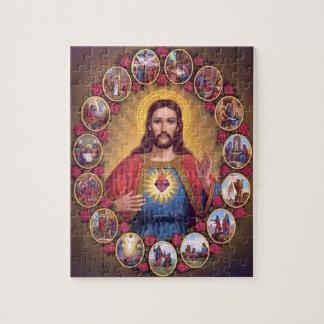 Den sakrala hjärtan av Jesus Jigsaw Puzzles