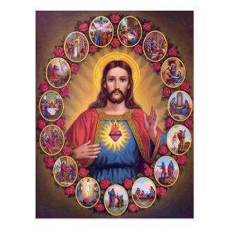 Den sakrala hjärtan av Jesus Vykort
