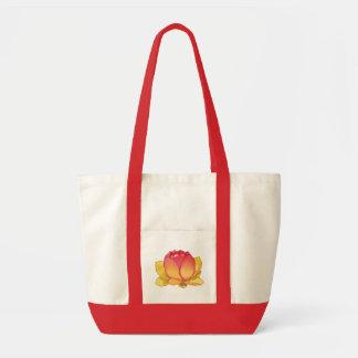 Den sakrala lotusblommablommatotot hänger lös tygkasse