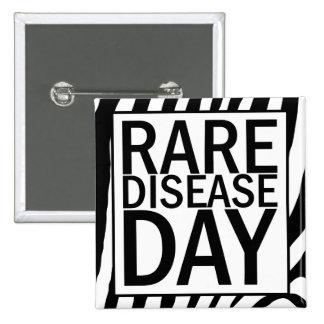 Den sällsynta sjukdomdagen knäppas (zebra tryck) standard kanpp fyrkantig 5.1 cm