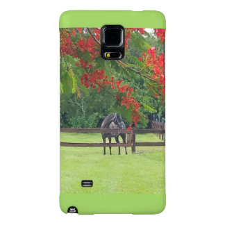 Den Samsung galaxen noterar 4, fodral med hästen