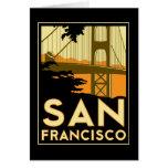 Den San Francisco art déco reser affischen Kort
