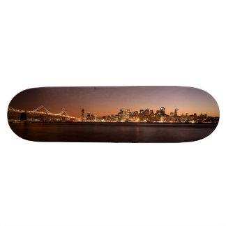 Den San Francisco horisontskridskon stiger ombord  Old School Skateboard Bräda 21,6 Cm