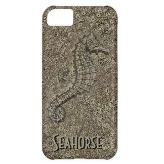 Den sandiga texturerade seahorsen fotograferar iPhone 5C fodral