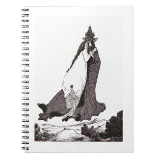 Den Sanktt ron av Lima stiger till himmel Anteckningsbok Med Spiral