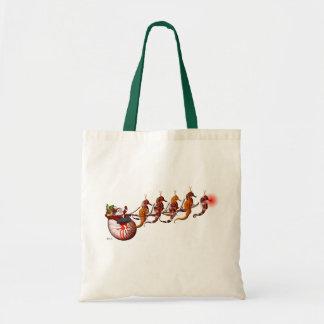 Den Santa och SeahorseSleightotot hänger lös Tygkasse