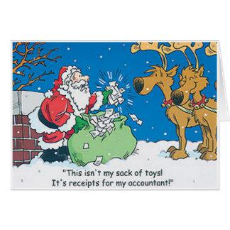 Den Santa revisorn kvitterar roliga julkort Hälsningskort