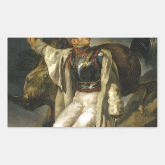 Den sårada cuirassieren av Theodore Gericault Rektangulärt Klistermärke