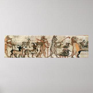 Den Satirical papyrusen Poster