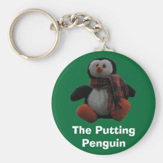 Den sättande pingvinet rund nyckelring