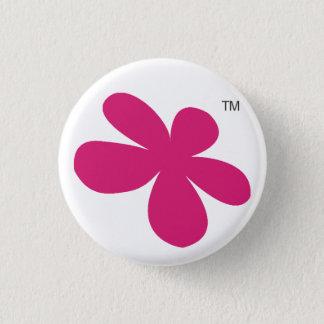 Den Sazbean blomman knäppas Mini Knapp Rund 3.2 Cm