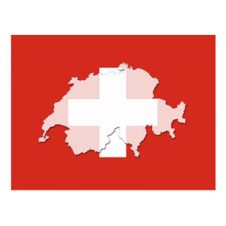 Den Schweitz flaggakartan skisserar vykortet Vykort