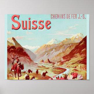 Den schweiziska alpernan poster