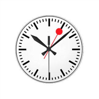 Den schweiziska järnvägen tar tid på rund klocka