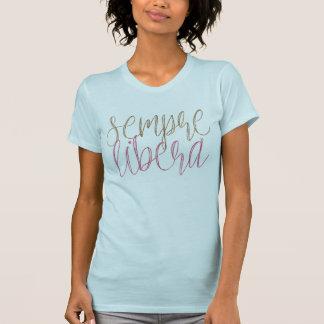 Den Sempre liberaen skrivar t-skjortan T Shirts