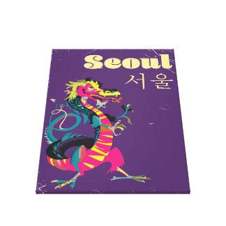 Den Seoul sydkoreanen reser affischen Canvastryck