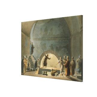 Den Sepulchral kammaren, nära Bethany, från 'beskå Canvastryck