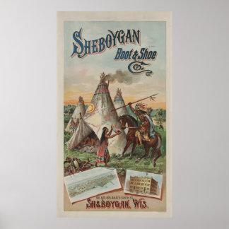 Den Sheboygan kängan & skor Co. [1891] Poster