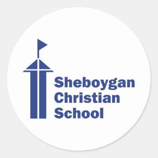 Den Sheboygan kristen skolar Runt Klistermärke