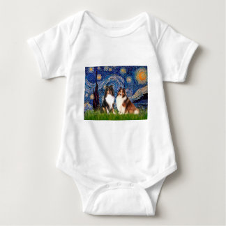 Den Shetland sheepdogen parar - Starry natt Tee Shirt