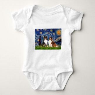 Den Shetland sheepdogen parar - Starry natt Tshirts